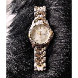 Bulova Marine Star Silver & Gold Watch